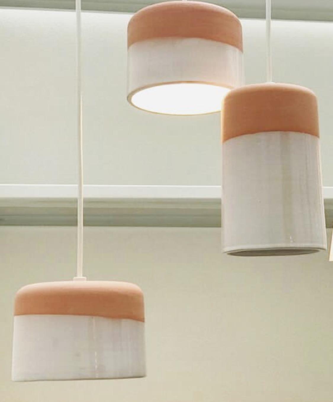Alto Lámpara de cerámica Cilindro colgante 0Pkw8nO